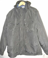 NW $295 MENS COLE HAAN UTILITY 4 POCKET HOODED JACKET INSULATED COAT LARGE L BLK