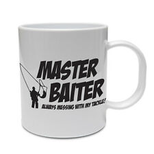 MASTER BAITER - Fish / Fishing / Rod / Novelty / Funny / Gift Themed Ceramic Mug