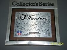 1977 OAKLAND RAIDERS SUPER BOWL XI CHAMPIONS PLAQUE VINTAGE 8X10 NEW OLD STOCK