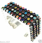 TAXCO MEXICAN 925 STERLING SILVER MULTI INLAY BEADED BEAD CUFF BRACELET MEXICO
