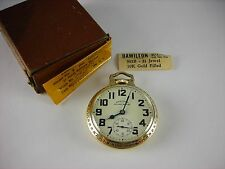 Antique Hamilton 992B 16s Railway Special pocket watch 1948 all original inc box