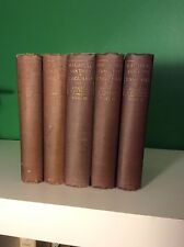 c1890 The History Of England From Ascension Of James II Thomas Macaulay 5 Vols