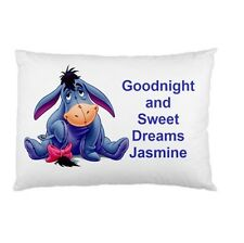 Eeymore personalized kids childrens bed pillow cushion case cover