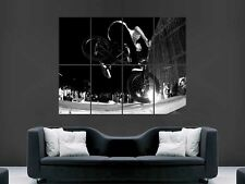 BMX JUMP TRICKS   ART WALL PICTURE POSTER  GIANT HUGE