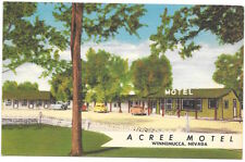 Linen Postcard Acree Motel in Winnemucca, Nevada~105326