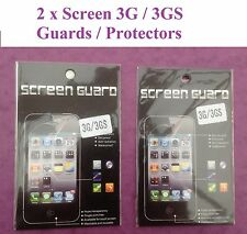 CLEAR LCD SCREEN PROTECTOR GUARD FILM COVER FOR IPHONE 3 3G 3GS  BRAND NEW QTY=2
