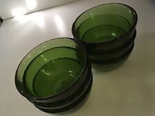 Small Green Glass Bowls- set of 6