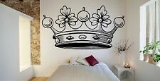 Wall Room Decor Vinyl Sticker Mural Decal Crown King Royal Prince Jewelry F2191