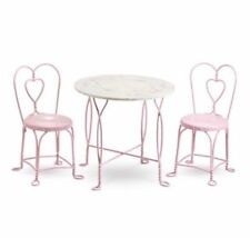 NEW NRFB American girl Sweet Treats Pink Bistro Table & Chairs Ice Cream Parlor