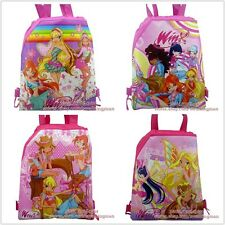 4pcs Winx Club drawstring backpack school backpack Kids Christmas party gift