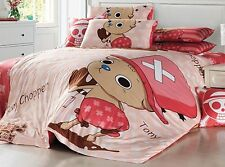 2015 New One Piece Tony Chopper Bedding Set 4pc Queen Size Bed PINK RARE