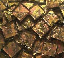"1sqft 4"" VAN GOGH Mosaic Glass Tile GOLD  COPPER"