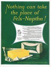 1920's BIG Vintage Fels Naptha Laundry Soap Retro Decor Art Print Ad c