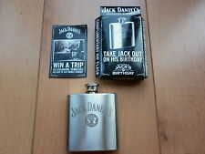 BRAND NEW JACK DANIELS JD STAINLESS STEEL HIP FLASK, PERFECT GIFT