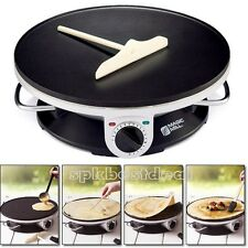 Commercial Electric Crepe Maker Pancake Pan Griddle Plate Kitchen Cooking Tools