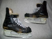 VINTAGE COOPER ROOS ICE HOCKEY SKATES GREAT DISPLAY OR COULD STILL USE, 10, WORN