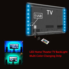 2 LED Strip RGB Vibrant Color LED Home Theater TV Back Light USB Power 7.2W100CM