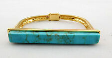 MACY'S Flat-Top Turquoise-Look Bangle Bracelet Msrp $24.50 *NEW WITH TAG*