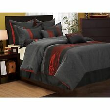 Corell Red/Black 7-piece Comforter Set