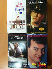 4 Tom Hanks Vhs Movies: Forrest Gump, The Green Mile, Apollo 13, Big