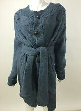 RPP 200£ Diesel New Women's M-Veruda 00TKJ Warm Winter Cardigan M Color Blue