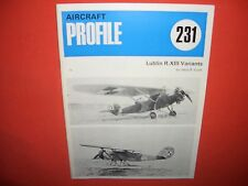 Aircraft Profile Publ. 231, LUBLIN R.XIII R-XIII Variants