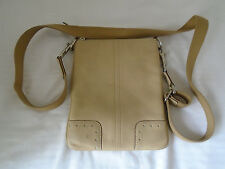 COACH TAN LEATHER CROSSBODY SLING BAG
