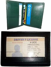 Lot of 2 Leather business card credit card case ID ATM wallet Card carrier BN #8