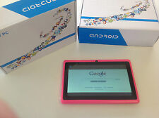 "New 8GB 7"" Pink Tablet PC  Android 4.2 OS Duel Camera Touch Screen WiFi FastShip"