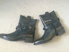 New Women's Roberto Maurizi Leather Ankle Boots in Jade Green UK 6 EU 39