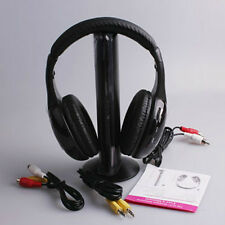 High quality Wireless Earphone Headphone 5 in 1 for MP3 PC TV hot sales Black