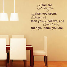 Inspirational You are Strong Lettering Words Room Wall Decal Sticker Mural Decor