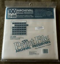100 NEW 35-6HB Archival 35mm Photographic Negative Preservers Print File Pages