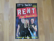 Caprice in RENT the Musical it's Back PRINCE of WALES Theatre Original Poster