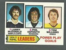 1977-78 Topps Hockey Power Play Goal Ldrs #5 Lanny McDonald Phil Esposito NM/MT