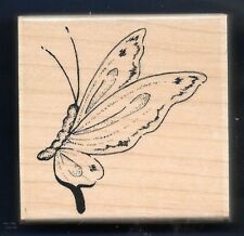 SWALLOWTAIL BUTTERFLY Insect IMPRESSION OBSESSION D6382 wood mount RUBBER STAMP