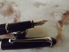 MAGNIFIQUE Stylo plume NEUF AURORA 88 Ottantotto 810C Résine Noire