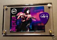 Nice - Kiss Paul Stanley very limited preview card / guitar pick display #U8