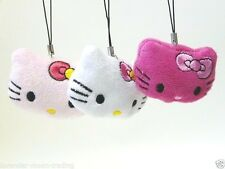 SOFT PLUSH HELLO KITTY MOBILE/CELL PHONE STRAP/KEYRING/Keychain/bag charm/gift