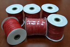 6 ROLLS - 600 METERS RED WAXED COTTON BEADING CORD STRING ROLL 2MM #F-52I