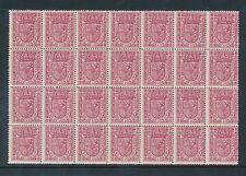 España 1896 Oficial Rose um bloque de menta de 28