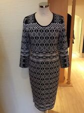 Riani Dress Size 16 BNWT Black And White Patterned Knitted RRP £259 NOW £117