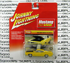 Johnny Lightning 1/64 Mustang & Fords Series 1 Yellow 1969 FORD TORINO TALLADEGA