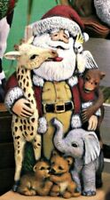 CERAMIC BISQUE CHRISTMAS AFRICAN WILDLIFE SANTA- READY TO PAINT