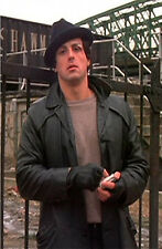 Rocky balboa sylvester stallone 100% Real Cow-Hide leather jacket