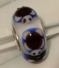Buy Now B4 He Escapes!  Trollbeads Ooak Turtle Universal Core White Core Turtle