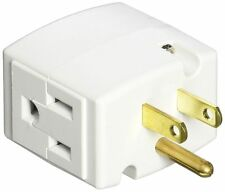 Leviton R54-692-W White Triple Cube Grounding Adapter