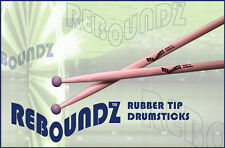 REBOUNDZ - RUBBER TIP PRACTICE DRUMSTICKS / IDEAL ROCKBAND DRUM STICKS