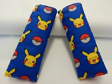 Baby Seat Strap Covers Car Chair Stroller Pram - Pokemon - Pikachu - Blue