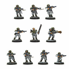 IMPERIAL GUARD 10 Cadian Shock Troops PRO PAINTED Warhammer 40K Astra Militarum
